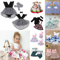 Cute Toddler Baby Girls Princess Pageant Wedding Party Flower Tulle Tutu Dresses