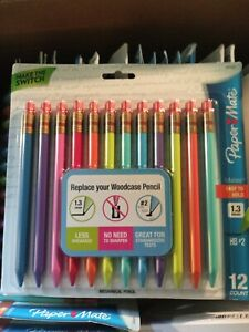 Paper Mate Mates Mechanical Pencil 1.3mm Thick Triangular 12 pack New Sealed