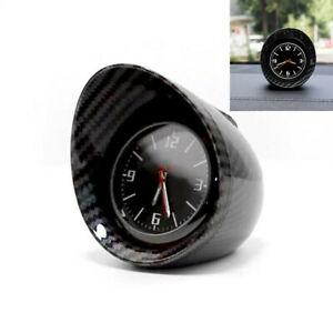 Car SUV Interior Dashboard Clock Luminous Backlight w/Glossy Carbon Fiber Shell
