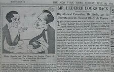 AL HIRSCHFELD - PRIVATE LIVES NOEL COWARD MADGE KENNEDY KRUGER July 26, 1931