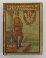 VINTAGE OLD KINGDOM OF YUGOSLAVIA POLICE GENDARMERIE BOOKLET CALENDAR 1925!!!