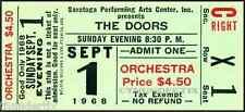 12 1967-1970  THE DOORS  FULL UNUSED CONCERT TICKETS scrapbooking frame reprint