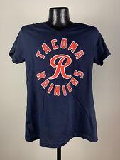 Women's MILB Tacoma Rainiers Navy Blue V-Neck Cotton Minor League Baseball Tee
