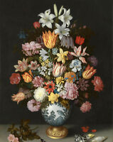 Oil ambrosius bosschaert the elder - A Still Life of Flowers in a Wan-Li Vase