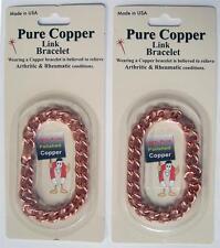 OPEN CHAIN LINK PURE COPPER DELUXE MENS BRACELET metal health pain relieve #628