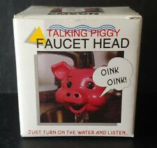 Rare New in Box Emson Talking Faucet Heads 1996 Talking Piggy