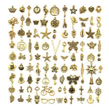 Vintage Golden Color Charms for Jewelry Making, 100 Style Pendant for DIY Making