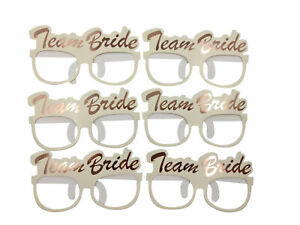 12 Hen Party Glasses Bride To Be Glasses Hens Bridal Party Prop TEAM BRIDE