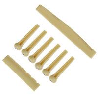Portable 6-String Guitar Bridge Pins Saddle Nut Acoustic Guitar Accessories ME