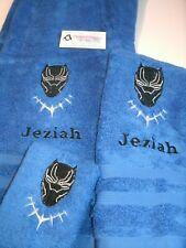 Black Panther Face Personalized 3 Piece Bath Towel Set Superhero Towels