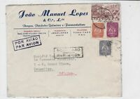 portugal 1948 air mail stamps cover ref 19380