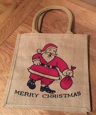 Christmas Jute Hessian Bag