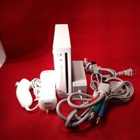 Nintendo Wii Gaming Console +Cords, Gamecube, Compatible White RVL-001(USA)