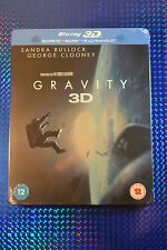 Steelbook Gravity 3D Bluray UK edition **REGION FREE**