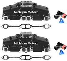 (2) Genuine MerCruiser Exhaust Manifolds, 5.0L, 5.7L, Non-Dry-Joint - 860246Q11