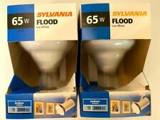 2 -Sylvania Reflector Floodlight 65 Watt Br30 120V E26 Medium Base 15165