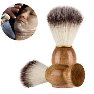 Men Shaving Bear Brush Best Badger Hair Shave Wood Handle Razor Barber Tool AU