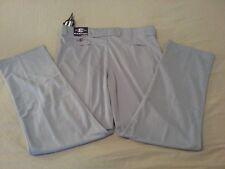 Mens New Easton Baseball Pants XL Large Gray Athletic