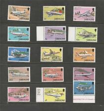 GIBRALTAR -1982 DEFINITIVE AIRPLANES  - MUH COMPLETE SET.