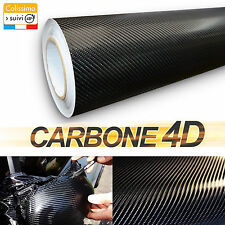 Carbone 4D Noir 150cm X 200cm Customisation Car Covering Habillage AirPress
