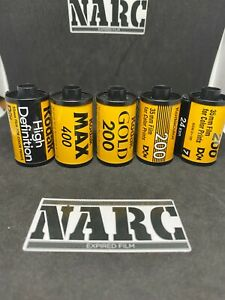 5x Kodak job lot  35mm 24exposures expired film out of date