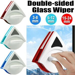 Magnetic Window Double Side Glass Wiper 3-24mm Cleaner Surface Cleaning Brush