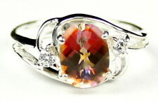 Twilight Fire Topaz, 925 Sterling Silver Ladies Ring, SR176-Handmade
