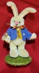 "Sally Lambert ""I'm Late"" rabbit miniature Alice in Wonderland artist teddy bear"