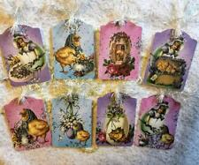 Set of 8 Hang Tags~Vintage Easter~Scrapbook~Cards~Embellishments~Gift Tags~#206