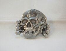 Outlaw Biker 1%er Original Death Head  Pin