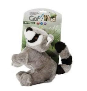 Gor Pets Wild Raccoon Dog Toy   Plush Fur Squeaky Wildlife Stuffed Soft Medium