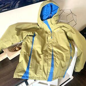 Patagonia Youth Teen Hooded Ski Snowboard Snow Jacket size XXL (16-18) Green