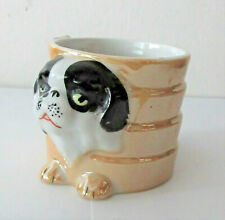 "Vtg Pekingese Japanese Chin Dog Planter Luster Ware Made in Japan 2.5"" x 4"""