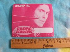 Weird Al Touring With Scissors Satin Backstage Pass Sticker