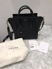 New Authentic Black Celine Nano Luggage Tote, Never Been Used, With Tags & Bag