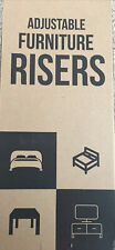 Utopia Bedding Adjustable Bed Furniture Risers 3� To 8� Heavy Duty New Set Of 4