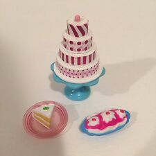 Barbie Replacement Food Tiered Cake and Ice Cream For Diorama