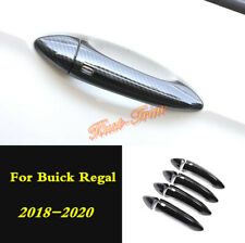 Carbon fiber Style Outside the door Handle Cover Trim For Buick Regal 2018-2020