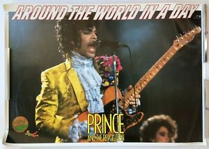 $0 SHIP! Prince JAPAN PROMO ONLY POSTER Around The World 1985 PAISLEY PARK