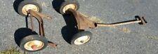 Vintage Radio Flyer Wagon Wheels With Hub Caps Antique Parts