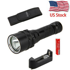 Waterproof  2000LM Scuba Diving CREE XM-L L2 LED Flashlight Torch Light 18650 US