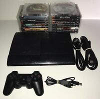 Sony PlayStation 3 PS3 CECH-4301C Super SLIM 500GB Console Bundle With 20 Games