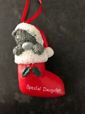 ME TO YOU TATTY BEAR XMAS TREE HANGING DECORATION - SPECIAL DAUGHTER STOCKING