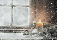 A1 | Christmas Candle Poster Print 60 x 90cm 180gsm Winter Wall Art Decor #14862