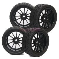 4PCS RC 1:10 On Road Car Foam streak Rubber Tyre Tires & Wheel Rim 6031-8002