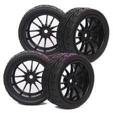 4PCS RC 1:10 On Road Car Foam streak Rubber Tyre Tires & Wheel Rim 6031-8002