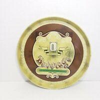 "Vintage Meister Metal Beverage 12"" Tray Tin Platter Kitchen Decor"