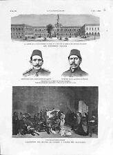 Atelier de Gustave Courbet Beaux-Arts Paris/Caserne Le Caire Egypte GRAVURE 1882