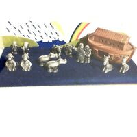 HUDSON MINI WORLD vintage 1983 collectible pewter NOAH'S ARK Storybox Collection