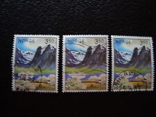 NORVEGE - timbre yvert et tellier n° 838 x3 obl (A30) stamp norway